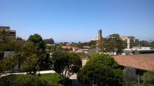 Ausblick vom Büro Richtung Meer (inkl. Storke Tower).