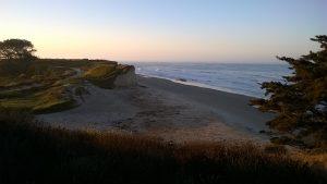 """Morgenstimmung am Strand der University of California - echt """"recht"""" schöne Ausblicke :)"""